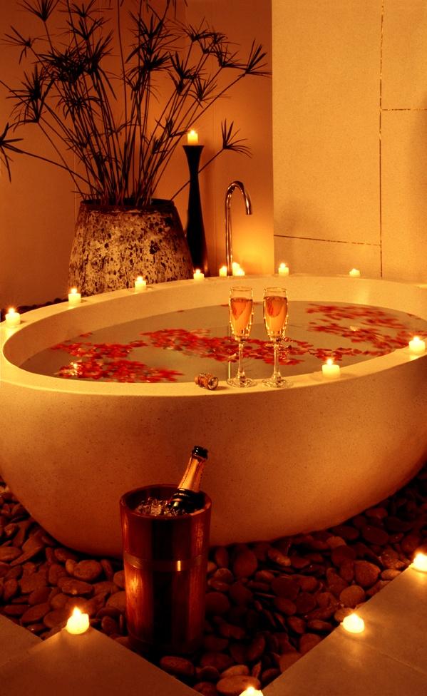 un romantico san valentino a casa - Bagno Romantico San Valentino