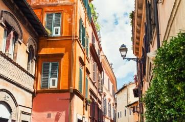 Beautiful street in Rome, Italy.