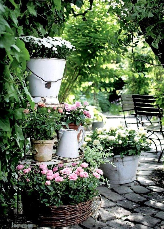 tuo giardino in stile shabby chic - Arredamento Esterno Shabby