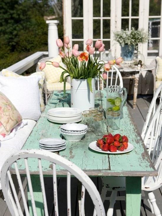 Il tuo giardino in stile Shabby Chic