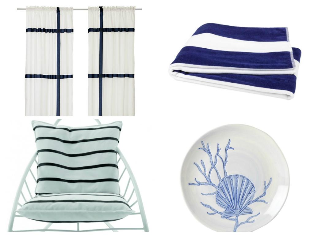 Lo stile marinaro che veste la casa for Tessuti arredo stile marina