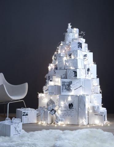 Alberi di natale creativi fai da te - Pacchetti natalizi fai da te ...
