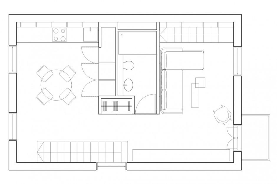 Mini appartamento ecco come arredare 40 mq for Progetto di casa loft