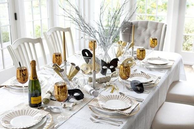 Tante idee per decorare la vostra tavola per il capodanno 2016 - Decorare la tavola per capodanno ...