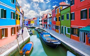 Le case colorate di Burano