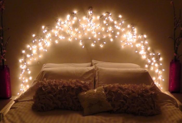 Come ti cambio la camera 5idee originali per la testata del letto - Lucine camera da letto ...