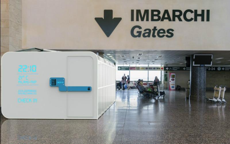Arrivano le cabine per dormire in aeroporto